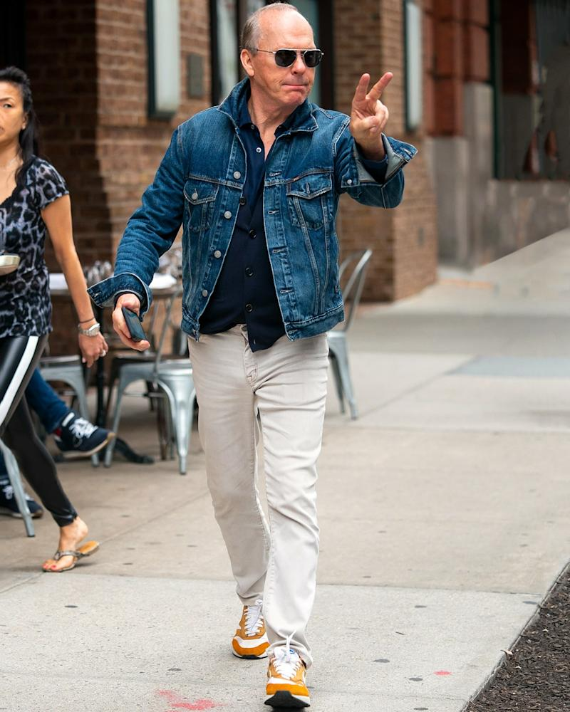 We share Michael Keaton's enthusiasm about the official start of denim jacket season.