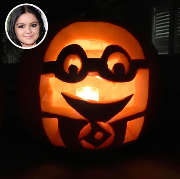 <p>The <i>Modern Family</i> star managed to pull off this intricate <i>Minions</i> design. It's not very scary, but it sure is cute! (Photo: Instagram/Getty Images) </p>