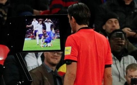 "Depending on your perspective, the 2017-18 season was the first step to a more just footballing future or a worrying lurch towards a joyless dystopia. We are talking of course about the introduction of the Video Assistant Referee System, which English football got its first taste of in the FA Cup third round. Though goal-line technology has been utilised successfully in the Premier League since 2013-14, VAR is the first attempt to use technology to correct more subjective decisions. VAR intervenes when the officials have made a 'clear and obvious error' in one of four key areas: goals, penalties, straight red cards and mistaken identity. Teething problems have included: failing to communicate decisions to match-going fans, ambiguity about what is a 'clear and obvious' error, lengthy delays, wavy lines, faulty technology and thwarted celebrations. Here is a blow-by-blow account of what unfolded when we decided to open Pandora's Box . Glenn Murray's goal Brighton and Hove Albion vs Crystal Palace, FA Cup 3rd round, January 8 Glenn Murray's late goal was allowed to stand after the referee consulted the VAR The season's second A13 derby between Brighton and Crystal Palace was a historic occasion, as the Video Assistant Referee system made its debut in English football. A drab game passed without much incident, until Glenn Murray bundled home the winner against his former club in the 87th minute. Palace claimed the ball had struck his hand, but replays confirmed it had in fact gone in off his knee. Video referee Neil Swarbrick informed on-field official Andre Marriner there was no need for an on-field review and the goal stood. VAR verdict: Correct decision. Ainsley Maitland-Niles penalty appeal Chelsea vs Arsenal, Carabao Cup semi-final first leg, January 10 Ainsley Maitland Niles carried on his run rather than going down Bristol City's Ashton Gate did not have the technology to support VAR, so the next time we saw the system was in the other Carabao Cup semi-final between Arsenal and Chelsea. Alex Iwobi's first-half attempt was pushed out by Thibaut Courtois but the fleet-footed Ainsley Maitland-Niles got to the rebound first ahead of Chelsea's Victor Moses. He nicked the ball past Moses, who caught him lightly on his right boot. The Arsenal youngster stumbled but stayed upright and referee Martin Atkinson waved away shouts for a penalty. Granit Xhaka led the appeals, and Atkinson put his hand to his earpiece to consult Neil Swarbrick. He advised there was no obvious error, and the original decision stood. VAR verdict: Contentious, but probably correct. Cesc Fabregas penalty appeal Chelsea vs Arsenal, Carabao Cup semi-final first leg, January 10 Replays showed Danny Welbeck got his foot to the ball Much like Maitland-Niles' appeal earlier in the match, this was a case of two players going for the ball and there being a split second between a foul and a clean tackle. Atkinson gave a corner - because he thought Danny Welbeck had got his foot to the ball - and replays showed his first instinct was correct. There was a delay before the corner was taken as Atkinson again pressed his hand to his ear-piece and the penalty was not given. Antonio Conte was unhappy post-match that the five minutes stoppage time did not account for the use of technology. VAR verdict: Contentious, but probably correct. Kelechi Iheanacho's disallowed goal Leicester City vs Fleetwood Town, FA Cup third round replay, January 16 Demarai Gray could not get his cross in before the ball had gone out Kelechi Iheanacho thought he had doubles Leicester's lead against Fleetwood when he converted Demarai Gray's pull-back, but linesman Lee Betts judged the ball had gone for a goal-kick. Referee John Moss checked the decision with VAR Mike Jones, who confirmed the linesman was right to raise his flag. No goal. VAR verdict: Correct. Kelechi Iheanacho's 'offside' goal Leicester City vs Fleetwood Town, FA Cup third round replay, January 16 Kelechi Iheanacho's goal against Fleetwood stood The first case of the video assistant refereeing overturning the referee's original decision. Kelechi Iheanacho latched onto Riyad Mahrez's through ball and tucked it away, before the linesman's flag cut his celebrations short. Jon Moss blew his whistle to disallow the goal, then put his finger to his ear to ask Mike Jones, the VAR, to check. Using the replays which feature a series of lines across the pitch, Jones told Moss the Nigerian was onside and the goal was good to stand. Moss made a rectangular TV signal, blew his whistle and pointed back to the centre circle to signal a goal. The celebrations at the King Power recommenced. VAR verdict: Correct. Willian's 'Dive' Chelsea vs Norwich City, FA Cup third round replay, January 17 The VAR decided there was no 'clear and obvious' error The most controversial incident since the system the was introduced. Willian's went down under the challenge of Timm Klose, but Graham Scott waved away his penalty appeal and booked the Brazilian for diving. The video referee Mike Jones did not intervene despite the fact contact replays showed between Willian and Klose. Whether that contact was sufficient for a penalty continued to be debated post-match, but there was complete consensus that Scott was wrong to book Willian for simulation. The Professional Game Match Officials Ltd admitted as much the next day. VAR verdict: Failed. West Brom's disallowed goal at Anfield Liverpool vs West Brom, FA Cup fourth round, January 26 Gareth Barry was in an offside position West Brom fans were delirious in the Anfield Road end thinking their team had a 3-1 lead inside 20 minutes, only to see the goal (correctly) ruled out two minutes later. Replays showed Gareth Barry was in an offside flick-on when Craig Dawson's head met a West Brom corner, but there was widespread confusion at Anfield. Referee Craig Pawson stood with his hand to his ear as VAR Andre Marriner looked at the replays before judging there was a clear and obvious. To add to the sense of the bizarre, Liverpool 2 West Brom 2 then flashed up on the scoreboard. VAR verdict: A farce but the correct decision. Liverpool's penalty against West Brom Liverpool vs West Brom, FA Cup fourth round, January 26 Mo Salah went down under the challenge of Jake Livermore A rare case of an 'on-field review', as Pawson walked over to the side of the pitch to watch a replay on a TV screen. Mo Salah was felled in the West Brom penalty area after Jake Livermore pulled his shirt. The forward pleaded with Pawson to consult the technology available, but it took four minutes for the penalty to finally be awarded. To West Brom's relief, Roberto Firmino hit the bar from the spot. VAR verdict: Contentious call and took too long. West Brom's third allowed to stand Liverpool vs West Brom, FA Cup fourth round, January 26 Pawson checked if Craig Dawson was offside West Brom's third came on the stroke of half-time and again Pawson spoke to VAR Marriner via his earpiece to check if Craig Dawson was offside. He was not, and after Joel Matip turned his low cross into the Liverpool net the goal was allowed to stand. VAR verdict: Correct. Juan Mata's disallowed goal for offside at Huddersfield Huddersfield vs Man Utd, FA Cup fifth round, February 17 Mata's right knee was adjudged to be offside Credit: BT Sport Juan Mata looked to have doubled Man Utd's lead in the FA Cup fifth round at Huddersfield, rounding the goalkeeper and slotting into an empty net. Referee Kevin Friend consulted with VAR for what look a marginal offside decision, and after a two or three minute wait eventually disallowed the goal when replays showed Mata's knee was offside. That was not the end of the controversy, however. During BT Sport's live coverage, a replay appeared with lines that looked as if they had been drawn by a four-year-old with crayon. Graphics provider Hawk Eye later issued an apology for a technical problem. VAR verdict: Farce. A technical issue led to an incorrect graphic being provided by Hawk-Eye to @btsportfootball last night. To confirm, the #VAR saw the correct image with the correct lines to make the decision. This was a case of the wrong image being provided to the broadcaster and we apologise. pic.twitter.com/QqbAWVfbi1— Hawk-Eye Innovations (@Hawkeye_view) February 18, 2018 Erik Lamela disallowed goal for a foul by Fernando Llorente Tottenham Hotspur vs Rochdale, FA Cup fifth-round replay, February 28 Fernando Llorente was penalised for a foul Erik Lamela thought he had put Spurs in front in their FA Cup replay against League One Rochdale, tapping into an empty net after Fernando Llorente held off Harrison McGahey. Referee Pal Tierney spent about a minute consulting VAR however, before chalking the goal off when it was decided the Spanish striker had committed a foul. It was just the start of a chaotic 50-minute halve at Wembley. FA chief executive Martin Glenn later admitted this decision was a 'mistake'. VAR verdict: A mess. Lucas Moura penalty appeal Tottenham Hotspur vs Rochdale, FA Cup fifth-round replay, February 28 Lucas Moura's penalty appeal was turned down Credit: Reuters McGahey was once again at the centre of the action after 22 minutes when Lucas Moura went to ground under his challenge. Tierney reviewed the decision - resulting in another stoppage of a minute or so - and concluded that the contact was insufficient to give a penalty. VAR verdict: Correct. Tottenham penalty fiasco Tottenham Hotspur vs Rochdale, FA Cup fifth-round replay, February 28 Spurs were awarded a free-kick before VAR judged the foul took place inside the area Credit: AFP Kieran Trippier is fouled by Rochdale's Matt Done and Spurs are awarded a free-kick. However, VAR judged that the foul had happened inside the penalty area and the decision was changed to a penalty kick. Heung-min Son stepped up and tucked it away, before events took another bizarre turn. Son was penalised for stuttering his run up Credit: BBC Sport Referee Tierney blew his whistle to address VAR, before showing Son a yellow card and disallowing the goal before he 'feinted' just before striking the penalty. The Laws of the Game indicate that a player deemed to have feinted at the end of his run should be shown a yellow card for unsporting behavior, though stuttering mid-run is permitted. VAR verdict: Strange, but technically correct. Heung-min Son disallowed goal Swansea City vs Tottenham Hotspur, FA Cup quarter-final, March 16 Spurs in FA Cup action again, as a Heung-min Son goal was disallowed for offside in their comfortable 3-0 quarter-final victory at Swansea. The Tottenham forward was flagged for offside, but crashed a shot in off the crossbar. It was a marginal call and referee Kevin Friend decided to consult VAR, which upheld the original decision by the finest of margins. Potential controversy was averted, because the referee had already blown his whistle when Son shot and Swansea's defenders could have claimed they stopped playing. VAR verdict: Successful. Italy's late penalty against England England vs Italy, international friendly, March 27 Debate raged as to whether James Tarkowski's challenge was a foul Credit: AP England's concession of a late penalty was the only blemish on an otherwise encouraging night for Gareth Southgate, and it proved controversial. Federico Chiesa skipped into the England penalty area with a few minutes to play, and took a tumble in the middle of a crowded England defence as the ball ran out of play. Initially, Italy's player's appealed vociferously for a corner. But on the advice of the video assistant, referee Deniz Aytekin reviewed the incident at the side of the pitch giving the 'box' signal that indicates a review. England were on the wrong end of VAR Replays showed Tarkwoski stood on Chiesa's foot, although the Italian was already on his way down and had lost control of the ball. The referee changed his original decision and awarded the penalty which Lorenzo Insigne converted. Even after several slow-motion replays, opinion was divided about the call, with Gareth Southgate feeling the original decision did not constitute a 'clear and obvious' error. VAR verdict: Contentious. Appeal for Antonio Valencia to be sent off Manchester United vs Tottenham, FA Cup semi-final, April 21 Antonio Valencia was substituted immediatley after the incident Credit: BBC Sports Spurs were unhappy that Manchester United right-back escaped a second yellow card after dragging Dele Alli to the ground. The Tottenham attacker had pinched the ball from Valencia as he tried to shepherd the ball out for a throw, and in a panic he dragged Dele down as he drove towards the penalty area. Despite VAR being in use in both FA Cup semi-finals, the decision was not reviewed. Jose Mourinho's decision to immediately substitute Valencia was perhaps an admission of guilt. VAR verdict: Should have intervened, unsuccessful. Southampton's disallowed goal Chelsea vs Southampton, FA Cup semi-final, April 22 Mark Hughes was furious that VAR was not consulted Credit: BBC Sport Southampton were denied an equaliser in their FA Cup semi-final defeat to Chelsea when Charlie Austin was judged to have fouled Willy Caballero. The Chelsea goalkeeper looked to spill a high ball over the line but the referee's whistle spared his blushed. Mark Hughes vented his anger post-match, saying: ""We had no luck, the keeper made a glaring mistake and miscontrolled it. I assumed VAR was in operation and it was a clear opportunity or situation to review and get it correct."" VAR verdict: Contentious. Alexis Sanchez disallowed goal Chelsea vs Manchester United. FA Cup final, May 19 Alexis Sanchez was rightly flagged for offside and Man Utd were denied an equaliser Credit: BTSport Manchester United thought they had found an equaliser as they pushed forward in the second half of the cup final, but Alexis Sanchez's goal was ruled out for offside. Thibaut Courtois brilliantly saved a Phil Jones header that was creeping in the bottom corner before Sanchez turned home the rebound. The linesman raised his flag, and VAR confirmed with referee Michael Oliver that the decision was correct. VAR verdict: Successful. Chelsea penalty appeal for Ashley Young handball Chelsea vs Manchester United. FA Cup final, May 19 Ashley Young's arm was not deemed to be in an unnatural position The final use of VAR in the domestic season. After David de Gea saved from Marcos Alonso, Victor Moses' chipped cross struck Ashley Young on the arm. Chelsea appealed vociferously but once again VAR ruled that Michael Oliver was correct to wave away their protests. That the ball struck Young's arm is not in doubt, but it was from point-blank range and his arm was deemed to be in a natural position. No penalty. VAR verdict: Contentious. Conclusion Despite the practical difficulties of introducing VAR, the fundamental problem with the system could turn out to be a philosophical one. VAR will undoubtedly lead to more correct decisions, the question is whether it is worth altering the very fabric of the game for the sake of a few percent accuracy. For players and managers with reputations on the line, the desire to rid football of 'injustice' is an understandable one. What about fans, however? The spontaneous eruption of joy that spreads through a stadium when the ball hits the net is football's essence. To curtail and sterilise that moment could threaten football as a source of entertainment. The only certainty is that now technology has been introduced, there is little chance of turning back - the toothpaste is out of the tube. There may be trouble ahead."