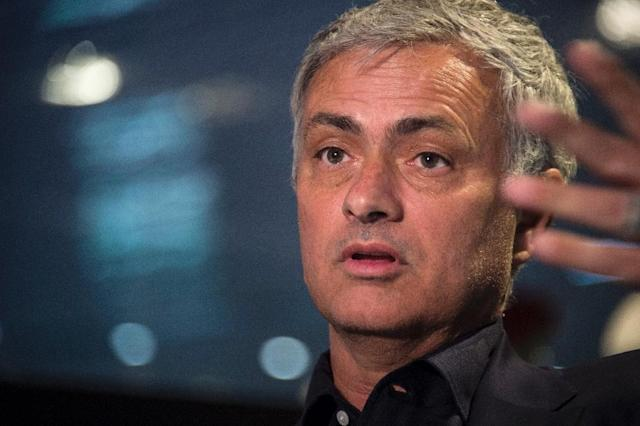 Mourinho praised the strength of Premier League after four of its sides made the last eight of the Champions League (AFP Photo/SEBASTIEN BOZON)