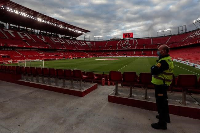 Sevilla says a player has tested positive for COVID-19