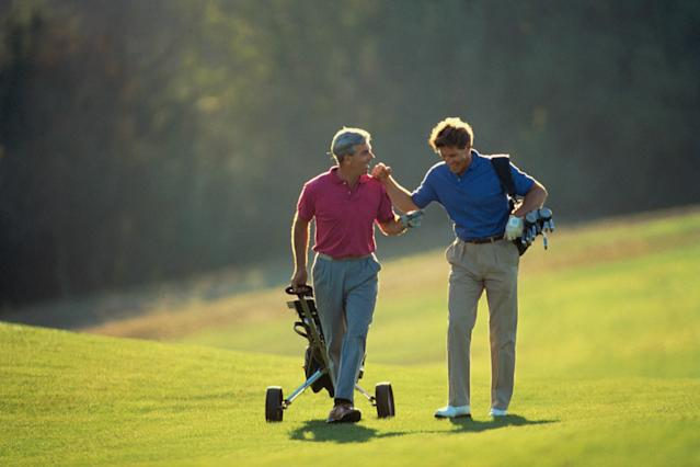 A great on-course conversation.