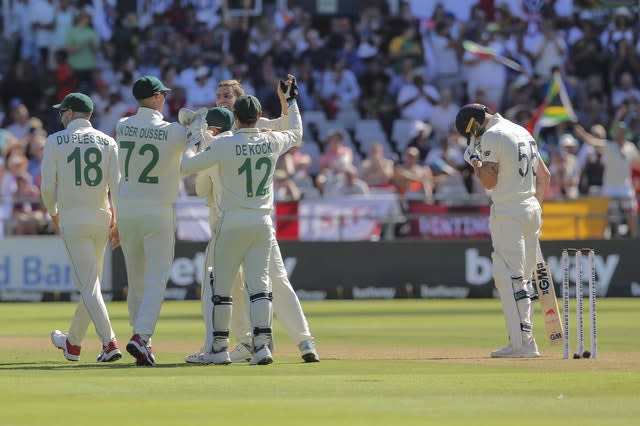 Stokes' tame dismissal contributed to an England slump