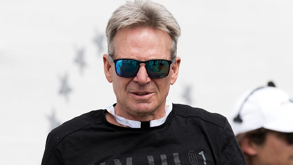 Sam Newman, pictured, has tweeted an attack on bushfire victims who refused to shake the prime minister's hand.