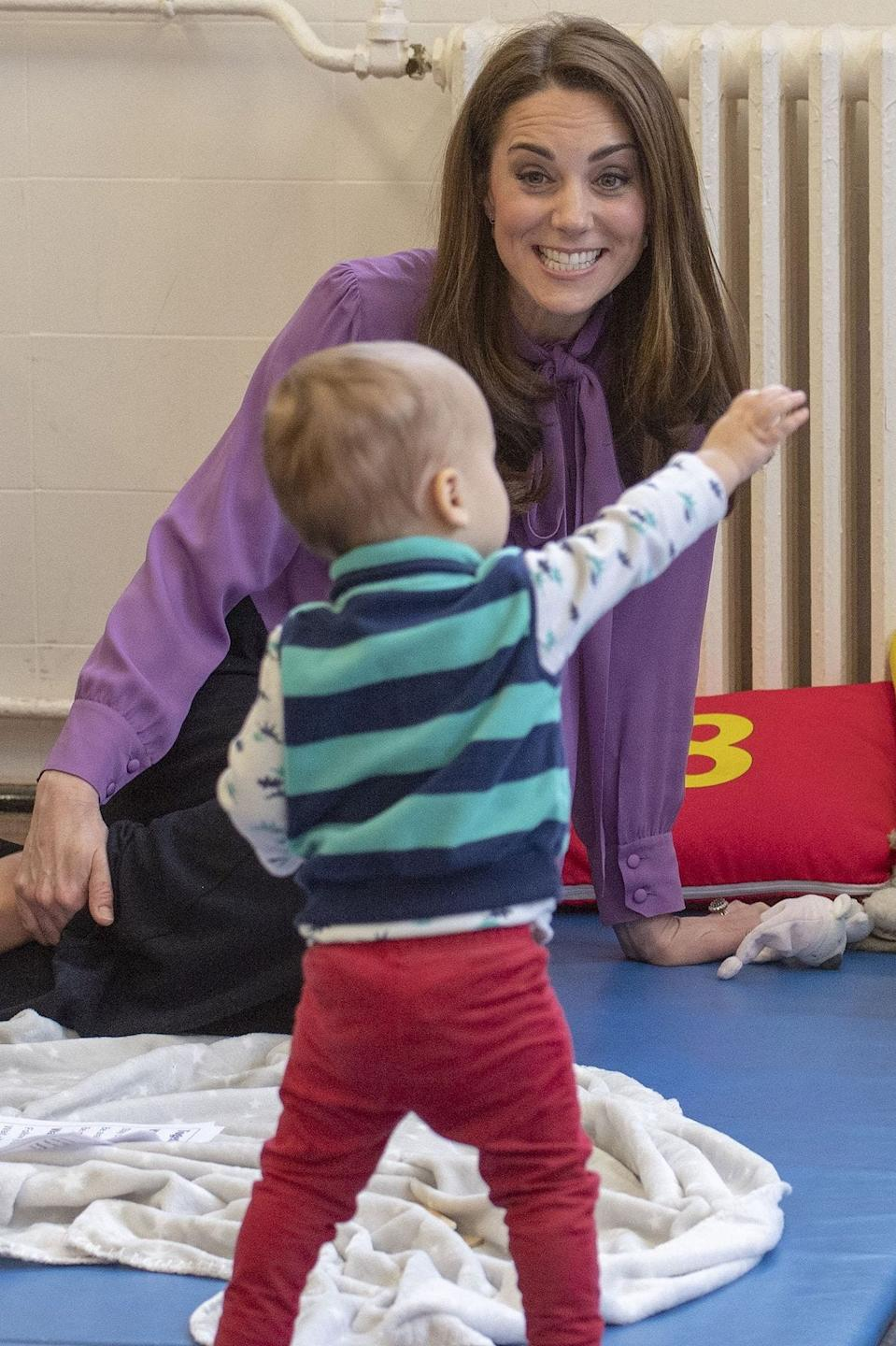 Kate Middleton with toddler