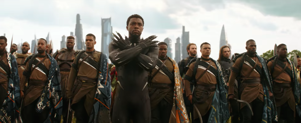 T'Challa and his army.
