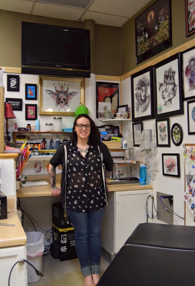Alicia Thomas is on a mission to tattoo all 151 original Pokemon. Photo: Supplied