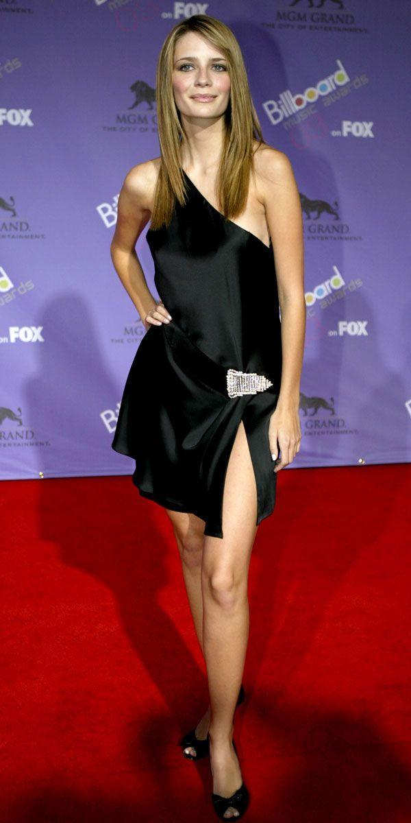 <p>The open slit and one shoulder cut on Mischa Barton's Billboard Music Awards dress gave the look a modern spin. </p>