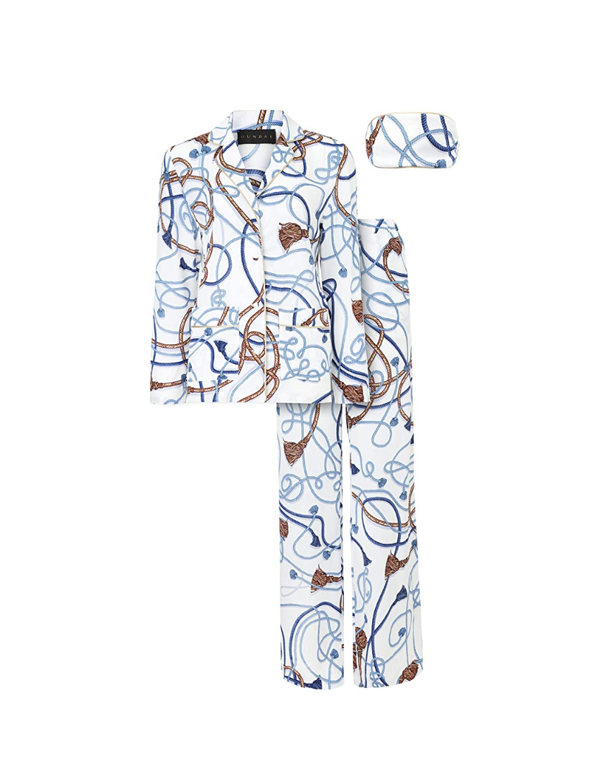 """<p><em>Dundas Nautical Pajama Set, $690</em></p><p><a class=""""link rapid-noclick-resp"""" href=""""https://www.amazon.com/dp/B08F747H4Z/ref=cm_sw_r_cp_api_glt_fabc_079NZDMYG2DBAPYG12H7?tag=syn-yahoo-20&ascsubtag=%5Bartid%7C10056.g.36320745%5Bsrc%7Cyahoo-us"""" rel=""""nofollow noopener"""" target=""""_blank"""" data-ylk=""""slk:SHOP NOW"""">SHOP NOW</a></p><p>As a red-carpet favorite, Peter Dundas <em>knows</em> high-wattage glamour. His take on the elevated PJ set is a must for getting a red-carpet feel at home.</p>"""