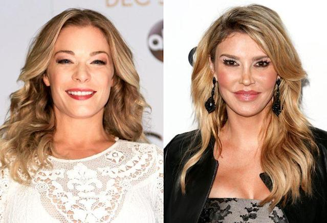 LeAnn Rimes and Brandi Glanville. (Photo: Getty Images)