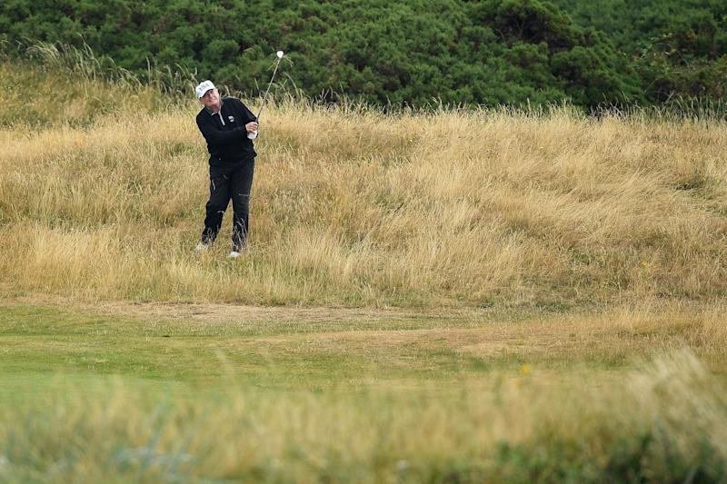 President Donald Trump has spent a total of 61 days on his Florida courses, 58 at Bedminster in New Jersey, one at Trump National Golf Club in Los Angeles and two at Trump Turnberry. (Photo: Leon Neal via Getty Images)