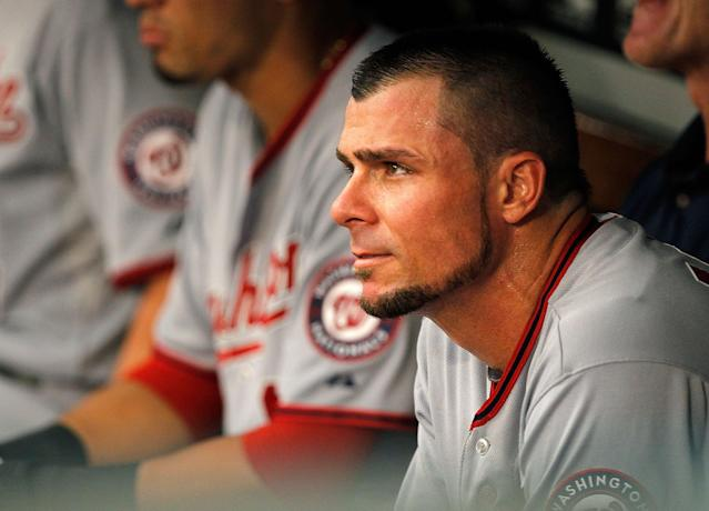 Former MLB player Rick Ankiel pitched for the first time in 14 years on Wednesday night. (Getty Images)