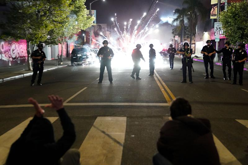 Days after the Los Angeles Police Department's violent crackdown on protests against police brutality, the city's elected officials were forced to admit that Black Lives Matter activists were right: The LAPD is getting too much money. (Kent Nishimura/Getty Images)