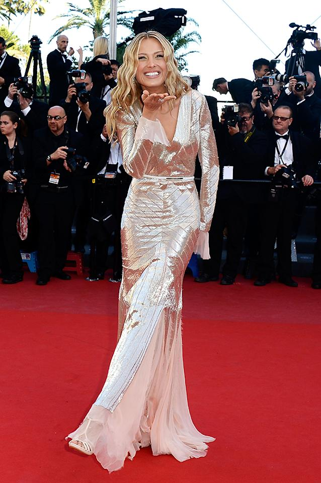 CANNES, FRANCE - MAY 21:  Petra Nemcova attends the 'Behind The Candelabra' premiere during The 66th Annual Cannes Film Festival at Theatre Lumiere on May 21, 2013 in Cannes, France.  (Photo by Pascal Le Segretain/Getty Images)