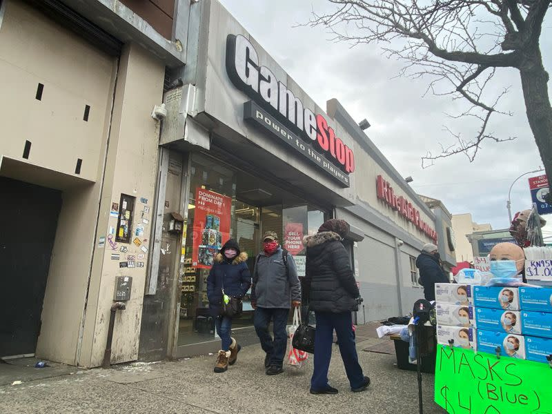 FILE PHOTO: A GameStop store is seen in New York