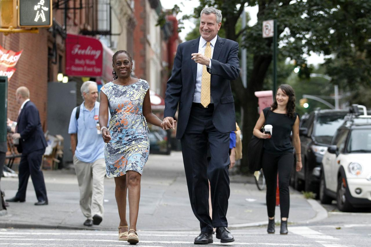 REFILE - CORRECTING TYPO IN DE BLASIO'S NAME