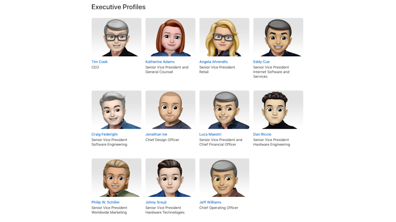 Apple's emoji leadership team picture is a reminder that Apple is so white