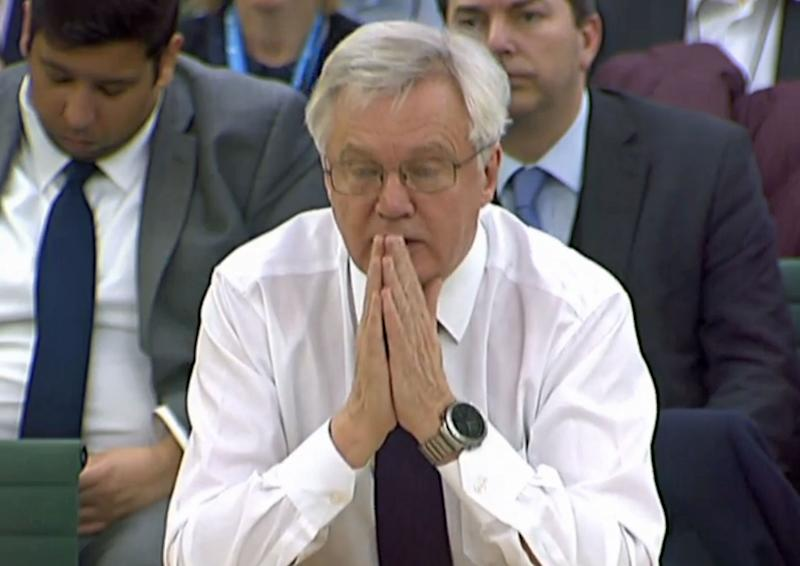 Frazzled – the Brexit Secretary was described as looking 'frazzled' during his appearance before the Brexit Select Committee More
