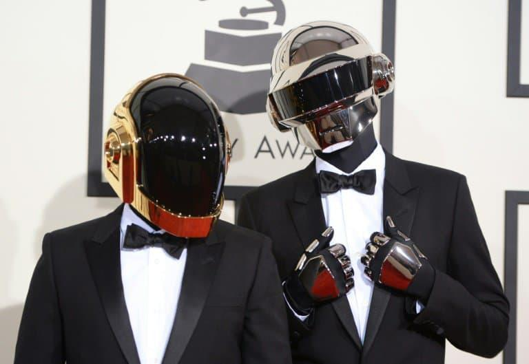 Le duo Daft Punk le 26 juin 2014 à Los Angeles - Robyn BECK © 2019 AFP