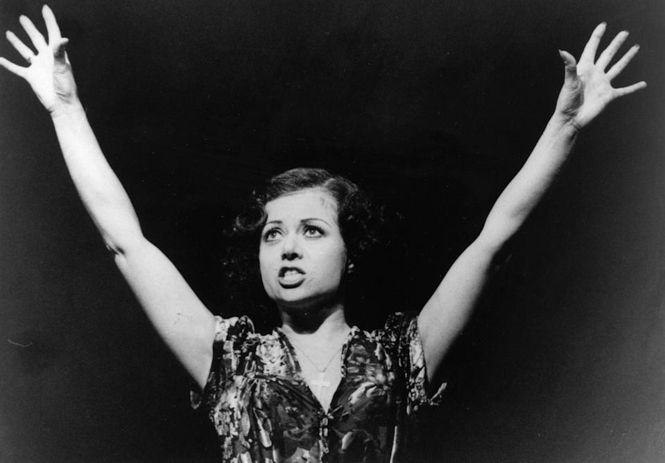 As Eva Peron in the 1978 version of Andrew Lloyd Webber's EvitaGetty Images