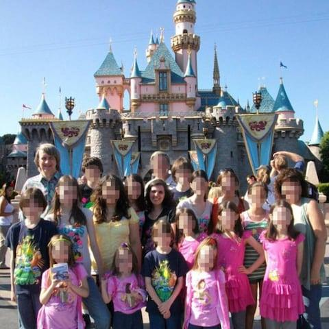 The family at Disneyland