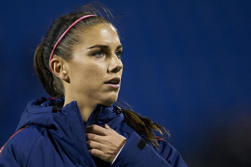Alex Morgan (Orlando Pride) of USA during the friendly match between Spain and USA at Rico Perez Stadium in Alicante, Spain on January 22 2019. (Photo by Jose Breton/NurPhoto via Getty Images)