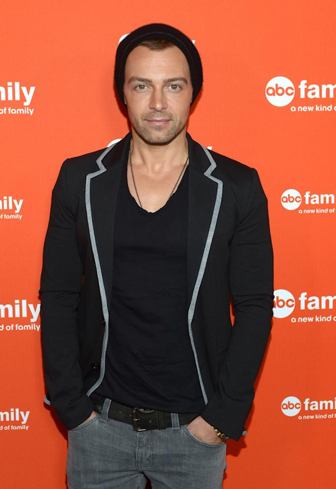 """Joey Lawrence (""""Melissa & Joey"""") arrives at ABC Family's West Coast Upfronts at The Sayers Club on May 1, 2012 in Hollywood, California."""