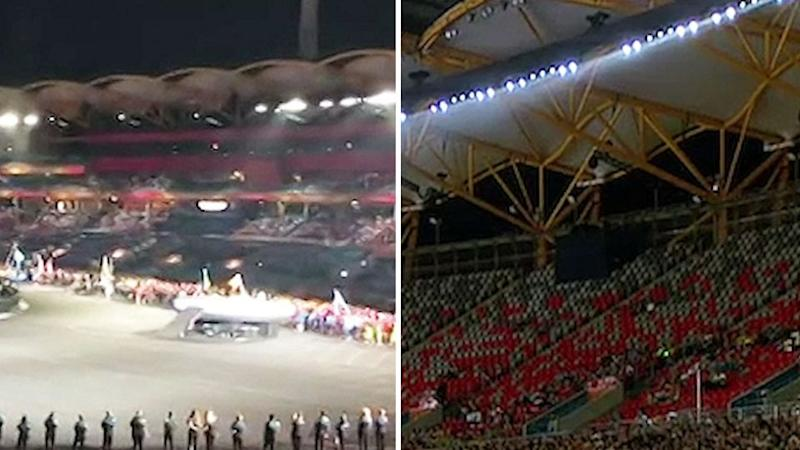 There were plenty of empty seats at Carrara Stadium for the closing ceremony of the Commonwealth Games on Sunday night. Source: 7 News