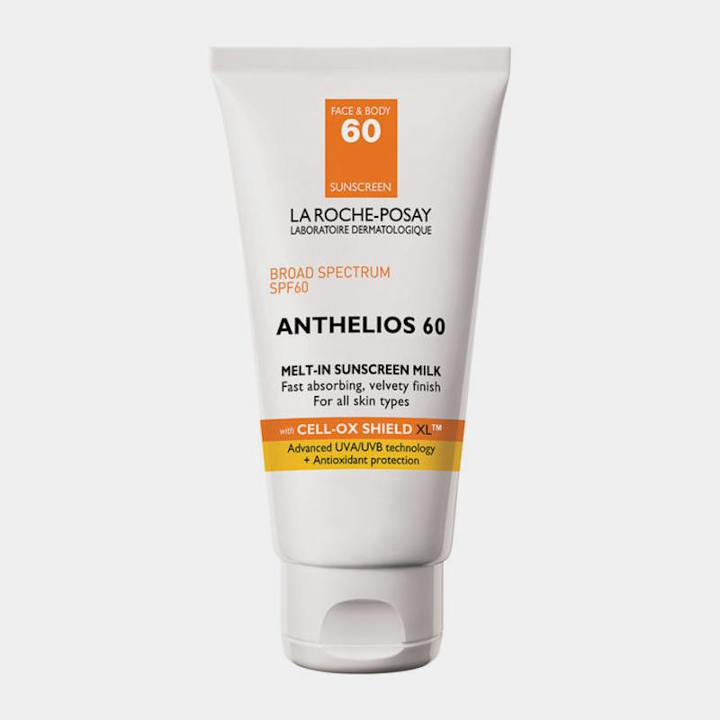 """La Roche Posay Anthelios SPF 60 Melt In Sunscreen Milk, $36, Buy it now """"I love this sunscreen, which was ranked No. 1 in [the 2017] Consumer Reports Study, because it's creamy without being greasy. I never doubt that I'm protected.""""—Whitney Bowe, M.D."""