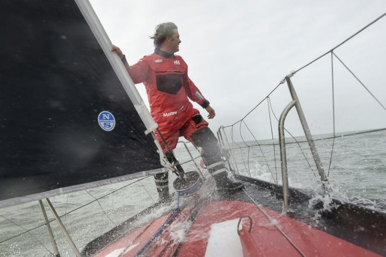 Yannick Bestaven's lead in the Vendee Globe has been cut to just 12 nautical miles