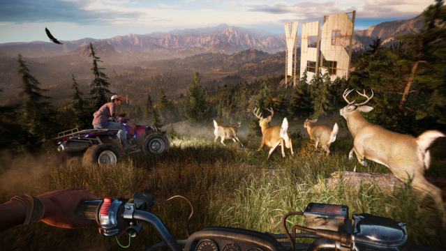'Far Cry 5's' expansive game world let's you explore small mountain towns, pristine rivers and beautiful forests.