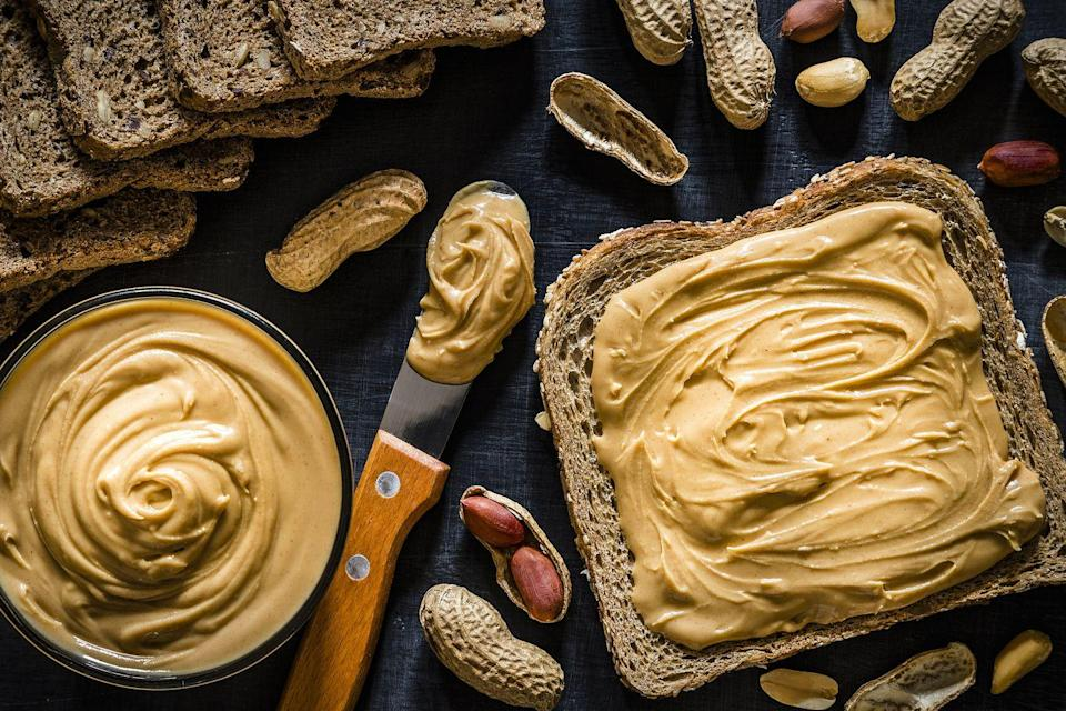"""<p>""""I also love regular peanut butter, and I've been known to mix some powder into it, too —double the flavor, and a serious protein boost,"""" says Brierley Horton, M.S., R.D. Deploy as you would regular peanut butter.</p>"""