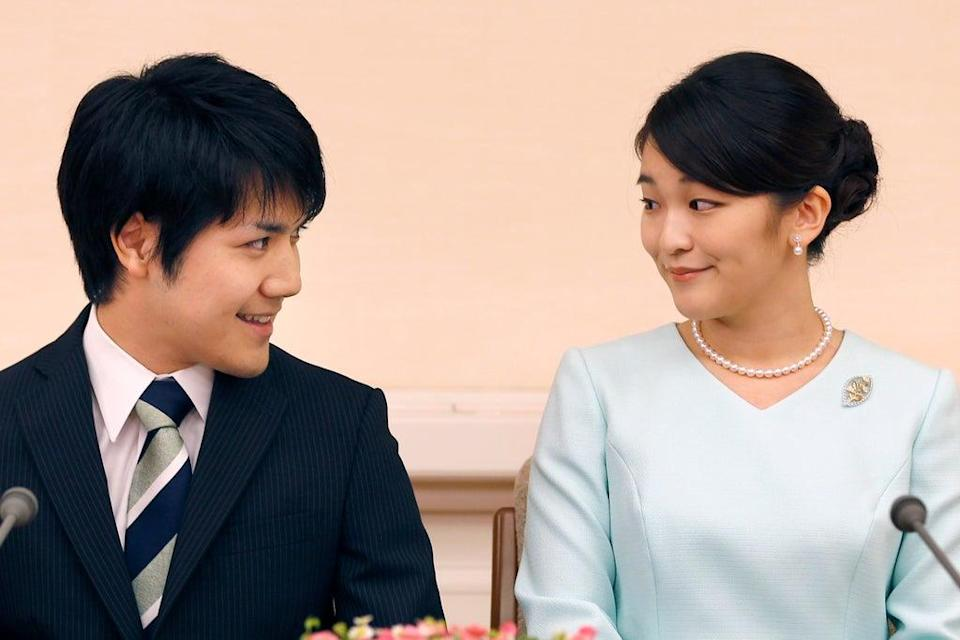 Japan's Princess Mako and her fiance Kei Komuro announced their engagement in 2017  (AP)