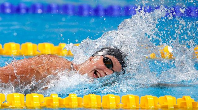 """<p>Katie Ledecky got her start in swimming because she just wanted to make friends. Her brother was eager to join a team at a pool near their house and as a 6-year-old, she tagged along.</p><p>By summer's end, the Ledecky siblings had made 100 friends ranging in age from 6 to 18. Some of them remain good friends with Katie, who went on to become the world's best swimmer in the post-Michael Phelps era.</p><p>She earned five golds and a silver at this year's world championships in Budapest, maintaining the upward trajectory she first established as a surprise gold medalist at the 2012 London Olympics.</p><p>Her dominant performance in Hungary earned Ledecky Associated Press Female Athlete of the Year honors.</p><p>In balloting by U.S. editors and news directors announced Tuesday, Ledecky received 351 points, edging out Serena Williams with 343. Williams won the Australian Open for her Open era-record 23rd Grand Slam tennis title . Olympic track star Allyson Felix finished third in voting, with 248 points.</p><p>Last year, Ledecky was second to gymnast Simone Biles in the balloting.</p><p>The AP Male Athlete of the Year will be announced Wednesday.</p><p>Ledecky is the eighth female swimmer to win and the first since Amy Van Dyken in 1996. Among the others is 1969 winner Debbie Meyer. At last year's Rio de Janeiro Games, Ledecky equaled Meyer's feat of sweeping the 200, 400 and 800 freestyles in a single Olympics.</p><p>""""It's a really great history of women swimmers and freestylers,"""" Ledecky said of the AP honor roll. """"I really look up to a lot of those women.""""</p><p>She is the first active college athlete to win since UConn basketball player Rebecca Lobo in 1995.</p><p>Ledecky is a sophomore at Stanford, still debating whether to major in psychology or political science, and enjoying life in the dorms, where she lives with five other swimmers.</p><p>""""Just being in the college environment has kind of added another layer of fun,"""" she said. """"Being with teammates and work"""