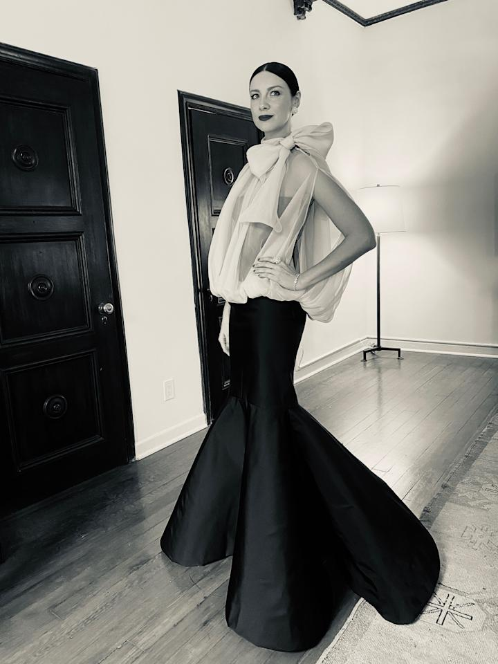 """<p>Caitriona Balfe is having a very casual week. In the midst of promoting <em><a href=""""https://www.elle.com/culture/movies-tv/a30613873/outlander-season-5-spoilers/"""" target=""""_blank"""">Outlander</a></em><a href=""""https://www.elle.com/culture/movies-tv/a30613873/outlander-season-5-spoilers/"""" target=""""_blank"""">'s upcoming fifth season</a>, the actress managed to find time to attend Sunday's Academy Awards, where her movie <em>Ford v Ferrari</em> had five nominations, including Best Picture. Balfe plays Mollie Miles, wife of professional race car driver Ken Miles (Christian Bale) and his fiercest champion. <em>FVF</em> ultimately<em></em> took home two trophies—Best Film Editing and Best Sound Editing—and Balfe herself documented it all exclusively for ELLE.com. From dressing room shenanigans (she wore pink and black Valentino) to a run-in with <a href=""""https://www.elle.com/culture/movies-tv/a30647958/cheer-cheerleaders-crazy-competition-stories/"""" target=""""_blank""""><em>Cheer</em> star Jerry Harris</a>, peruse Balfe's Oscar diary below, then <a href=""""https://www.elle.com/outlander-tv-show/"""" target=""""_blank"""">catch up on all our <em>Outlander</em> coverage</a> before the show returns to Starz on Sunday, February 16.<em></em><em></em></p>"""