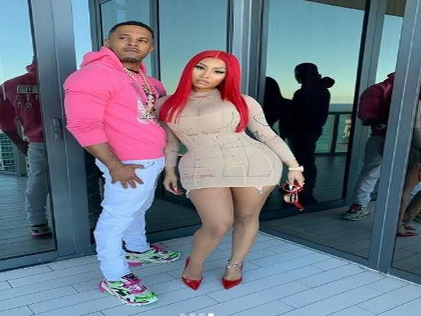 Rapper Nicki Minaj with her husband (Image Source: Instagram)