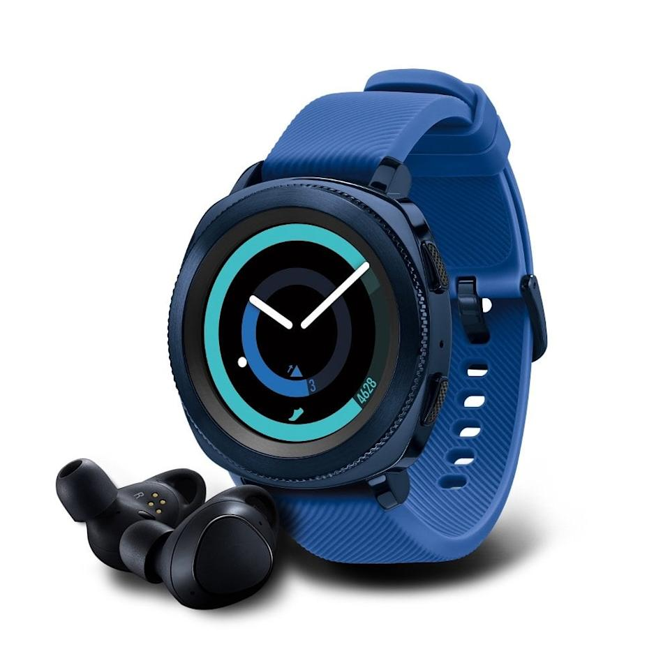 "<p>This <a href=""https://www.popsugar.com/buy/Samsung-Gear-Sport-Smartwatch-Gear-IconX-Fitness-Earbuds-403636?p_name=Samsung%20Gear%20Sport%20Smartwatch%20With%20Gear%20IconX%20Fitness%20Earbuds&retailer=amazon.com&pid=403636&price=180&evar1=fit%3Aus&evar9=45654939&evar98=https%3A%2F%2Fwww.popsugar.com%2Ffitness%2Fphoto-gallery%2F45654939%2Fimage%2F45654941%2FSamsung-Gear-Sport-Smartwatch-Gear-IconX-Fitness-Earbuds&list1=shopping%2Cfitness%2Cworkouts%2Cfitness%20gear%2Chealthy%20living%20tips%2Cfitness%20trackers&prop13=mobile&pdata=1"" rel=""nofollow"" data-shoppable-link=""1"" target=""_blank"" class=""ga-track"" data-ga-category=""Related"" data-ga-label=""https://www.amazon.com/dp/B078RZLYK6/ref=twister_B076XG2562?_encoding=UTF8&amp;th=1"" data-ga-action=""In-Line Links"">Samsung Gear Sport Smartwatch With Gear IconX Fitness Earbuds</a> ($180) is everything you need to conquer your workouts.</p>"