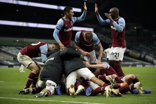 Spurs were 3-0 up until the 82nd minute against West Ham in the reverse fixture before drawing 3-3