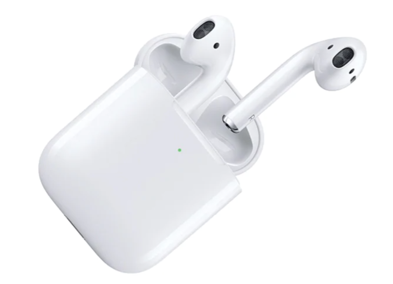 Apple AirPods with Wireless Charging Case (2nd generation). Image via The Source.
