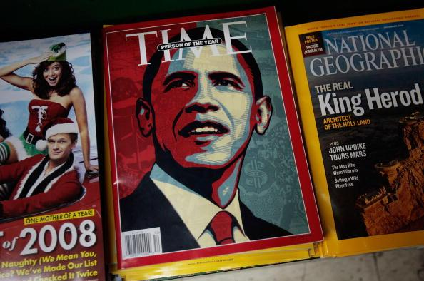 """Barack Obama, the 2008 """"Time"""" Person of the Year"""