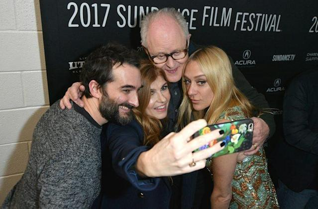 'Beatriz at Dinner' cast mates take a selfie at the premiere. (Photo: George Pimentel/Getty Images)