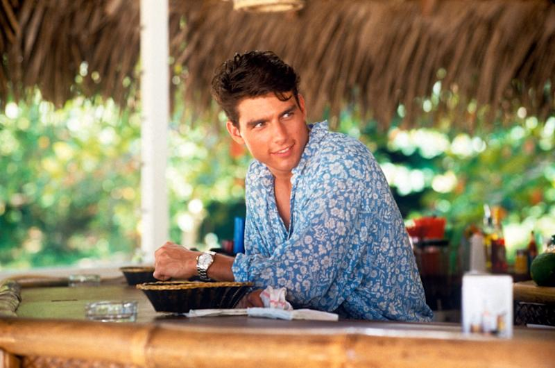 American actor Tom Cruise playing the role of a barman in the film Cocktail. 1988 (Photo by Mondadori Portfolio via Getty Images)