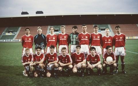 The Manchester United Youth Team - Ben Thornley, front row third left - Credit: manchester united