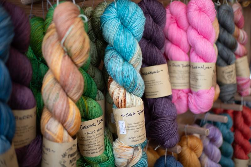 Picture of an colourful array of threads