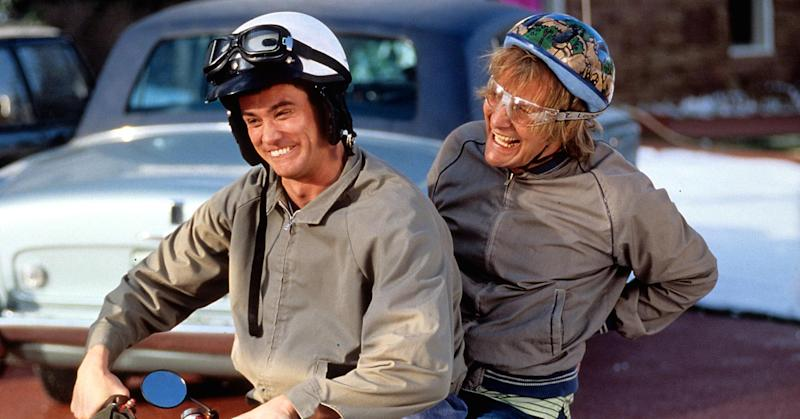 Jim Carrey Crashes 'Dumb and Dumber' Co-Star Jeff Daniels' 'Conan' Interview