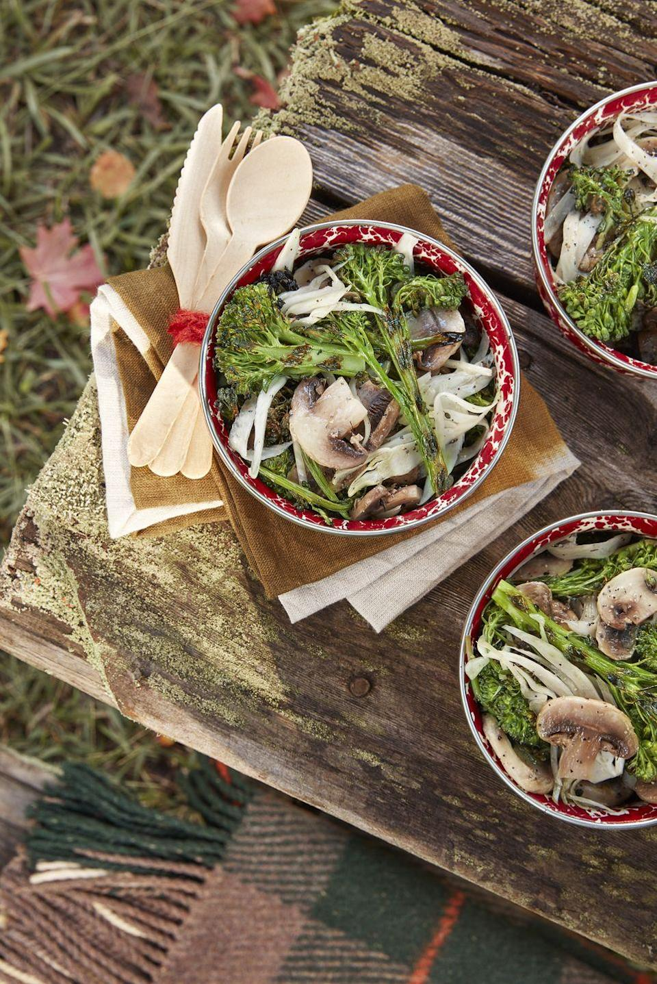 """<p>This nutritious <a href=""""https://www.countryliving.com/food-drinks/g896/thanksgiving-side-dishes/"""" rel=""""nofollow noopener"""" target=""""_blank"""" data-ylk=""""slk:Thanksgiving side dish"""" class=""""link rapid-noclick-resp"""">Thanksgiving side dish</a> packs plenty of zest—sans any animal products. </p><p><strong><a href=""""https://www.countryliving.com/food-drinks/a24415005/marinated-mushroom-charred-broccolini-salad-recipe/"""" rel=""""nofollow noopener"""" target=""""_blank"""" data-ylk=""""slk:Get the recipe"""" class=""""link rapid-noclick-resp"""">Get the recipe</a>.</strong> </p>"""