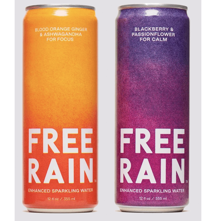 "<p><strong>Free Rain</strong></p><p>freerain.com</p><p><strong>$35.99</strong></p><p><a href=""https://freerain.com/collections/main//products/blood-orange-ginger-ashwagandha-for-focus"" rel=""nofollow noopener"" target=""_blank"" data-ylk=""slk:Shop"" class=""link rapid-noclick-resp"">Shop</a></p><p>Free Rain is a naturally flavored sparkling water brand started by Chopt co-founder Colin McCabe. It's a low-calorie option with no added sugar, enhanced with adaptogens such as the medicinal herb ashwagandha. And Free Rain is planting one tree in U.S. National Forests per every package ordered throughout April.</p>"