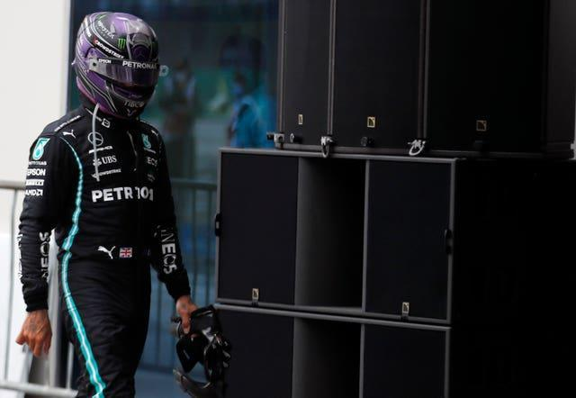 Lewis Hamilton finished fifth