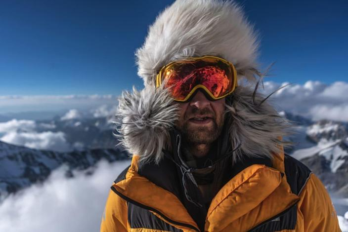 """<div class=""""inline-image__caption""""> <p>Renan Ozturk during expedition to climb Mt. Everest in search of Sandy Irvine's remains. </p> </div> <div class=""""inline-image__credit""""> National Geographic/Matt Irving </div>"""