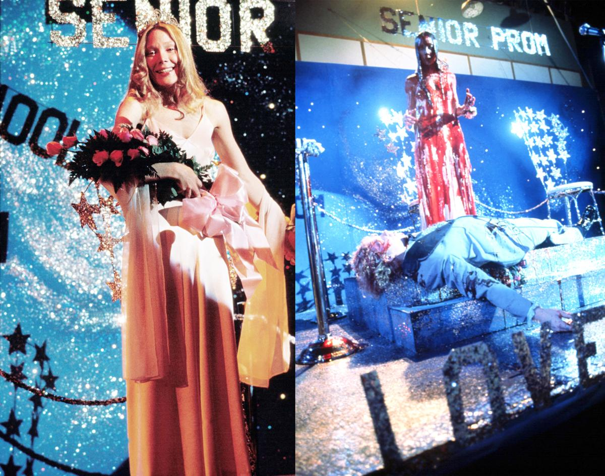 <p>Carrie, played by Sissy Spacek, looked innocent and pretty in pink for this 1970s prom. However, prom took a turn for the worse when blood was dumped on her in a cruel joke. Her pink dress turned dark red, making it a night that high school students — and the fashion world — would never forget! (Photos: Everett Collection) </p>
